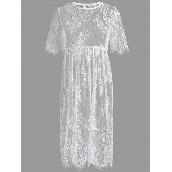 Midi Lace See Through Intimate Dress
