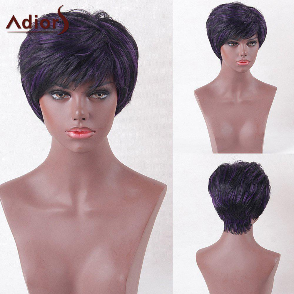 Adiors Highlight Short Side Bang Glossy Straight Synthetic Wig бинокль bushnell powerview roof 8–16x40