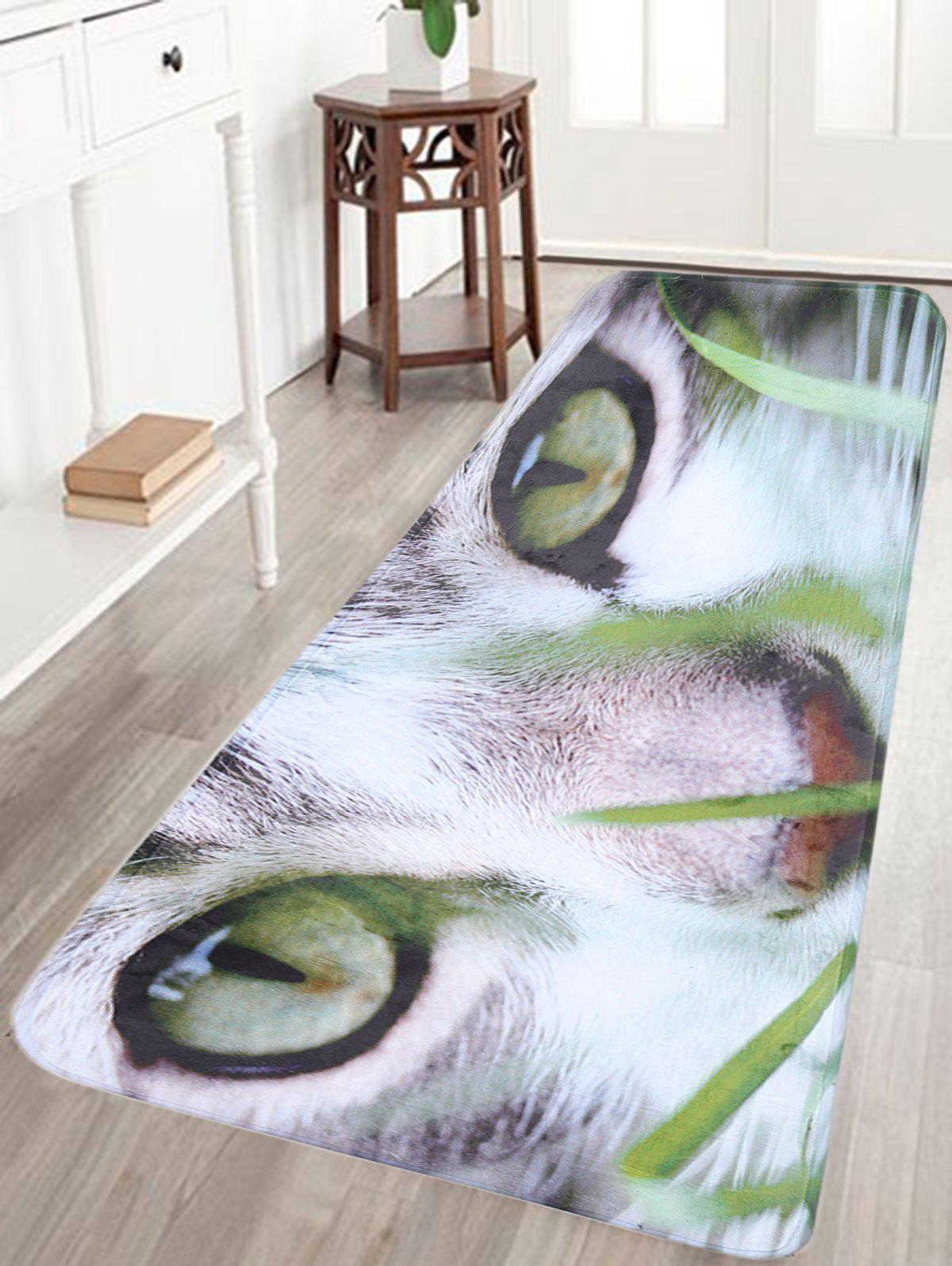 Cat Print Flannel Skidproof Bathroom Rug flannel skidproof bath rug with butterfly print
