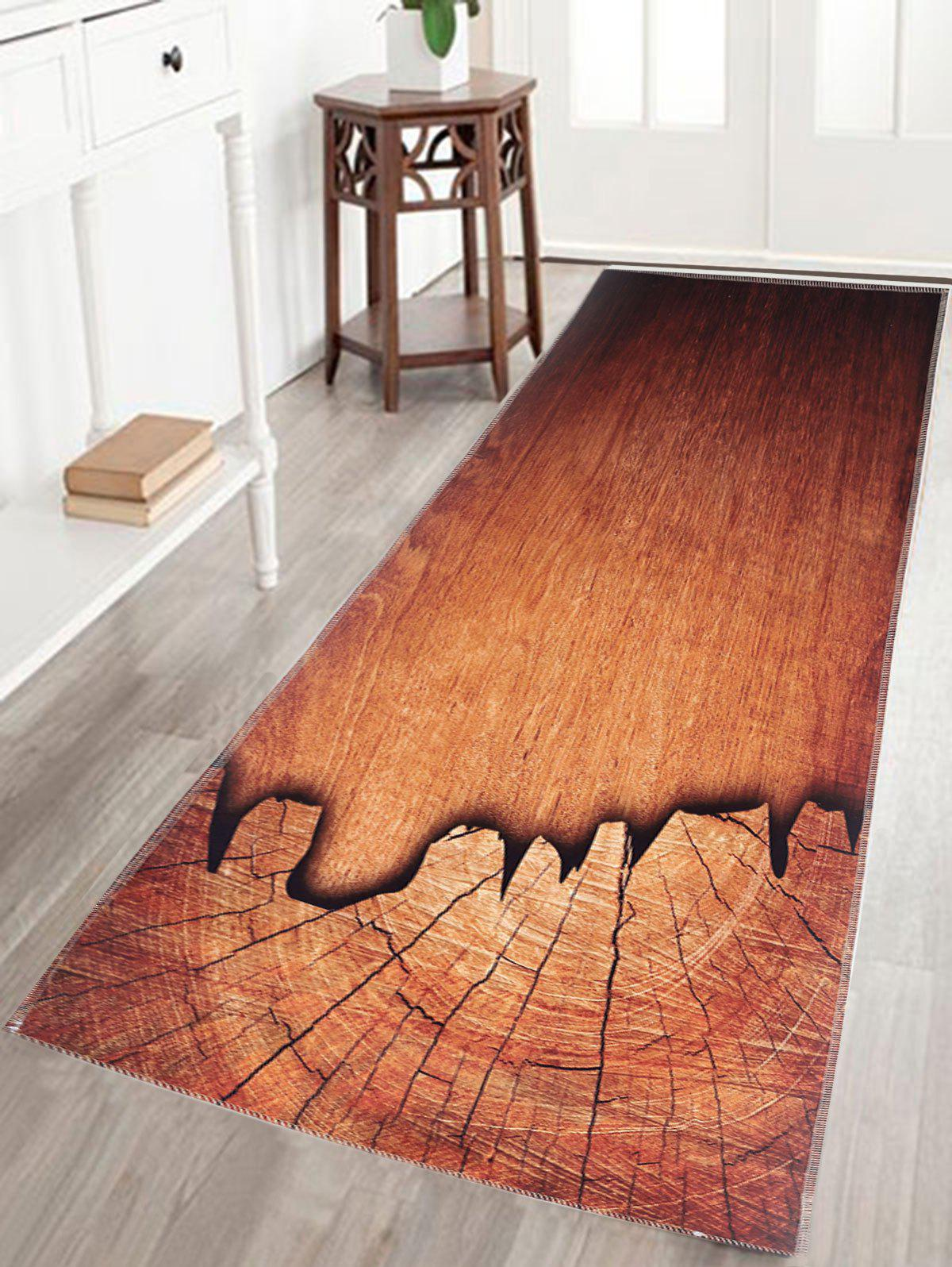 Wood Grain Print Water Absorption Bath Bathroom Rug skidproof water absorption bathroom rug with wood grain print