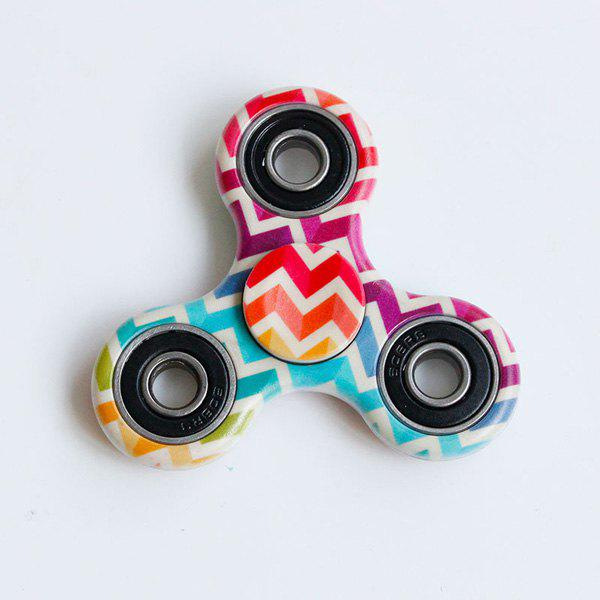 Fiddle Toy Colorful Zig-Zag Print Fidget Spinner