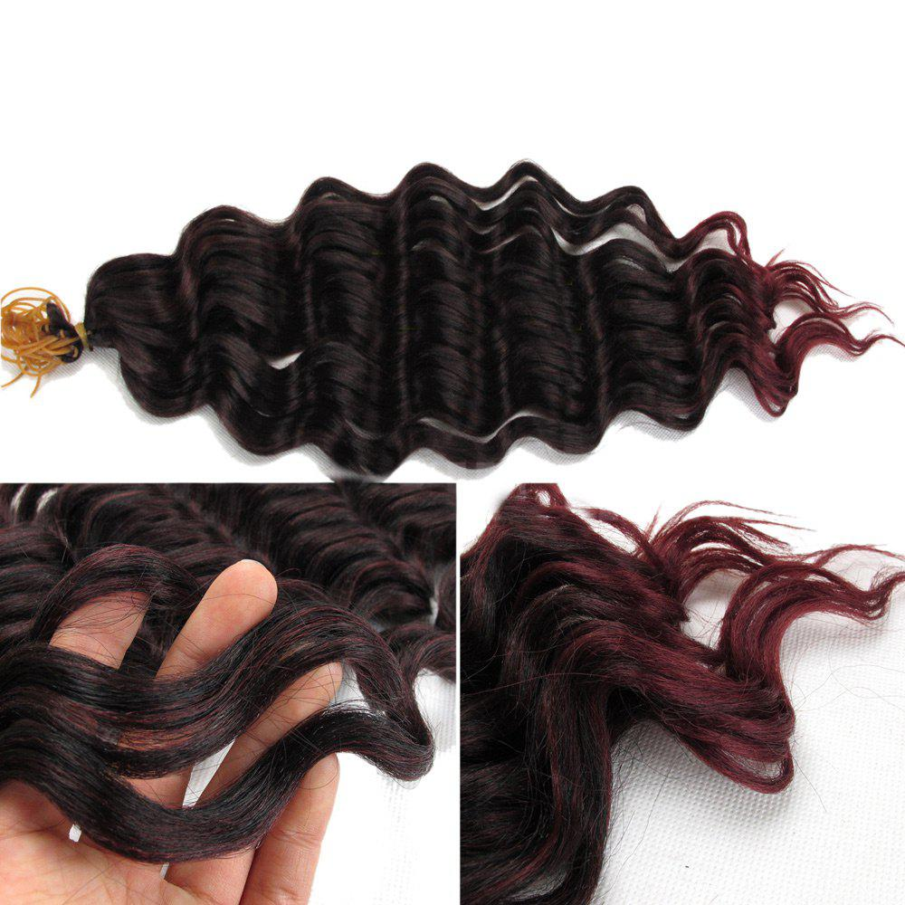 Pré Loop Wand Curl Crochet Hair Extension - Noir et Rouge