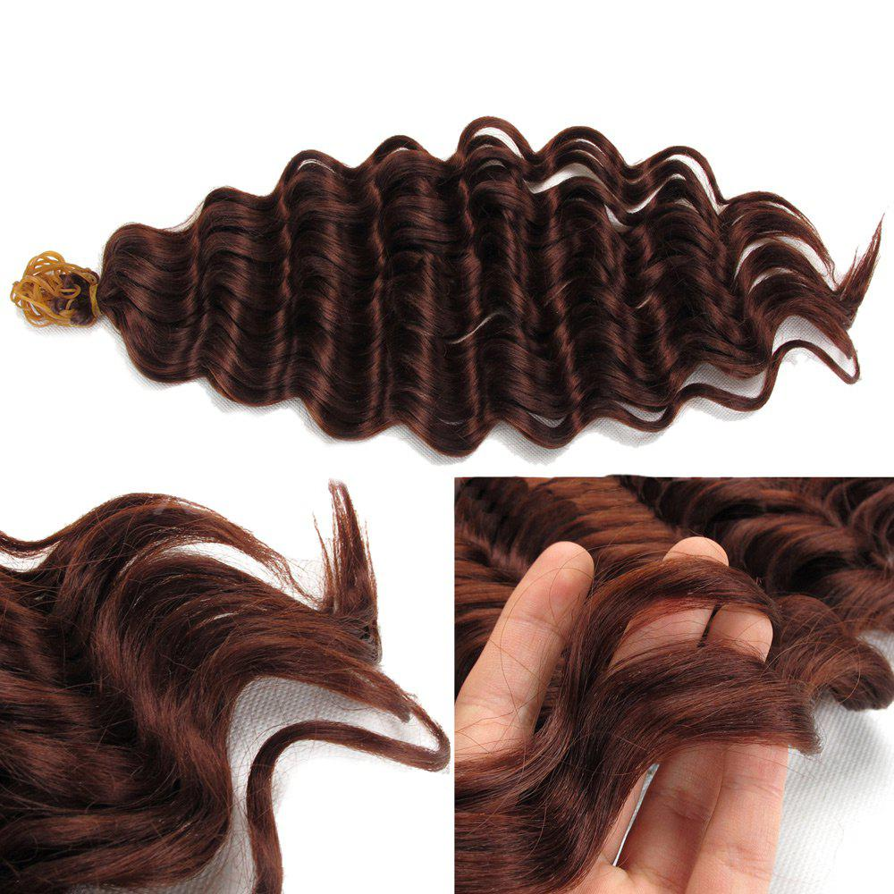 Pré Loop Wand Curl Crochet Hair Extension - Brun rouge