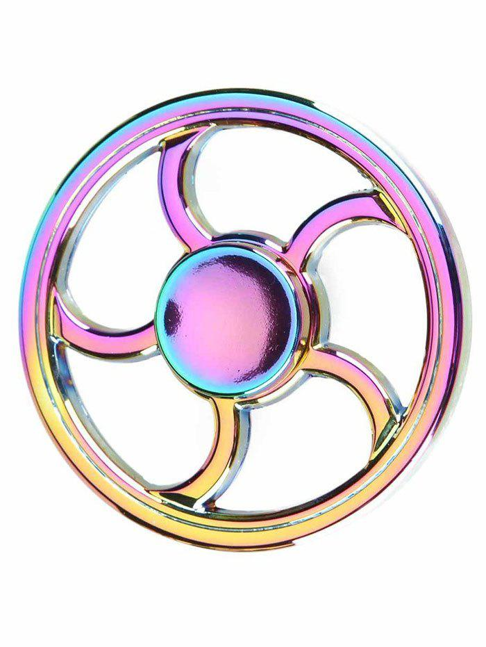 Wheel Fingertip Spinning Top Finger Gyroscope Focus Toy Stress Reliever - COLORFUL