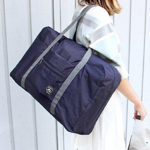 Waterproof Nylon Foldable Carryall Bag - DEEP BLUE