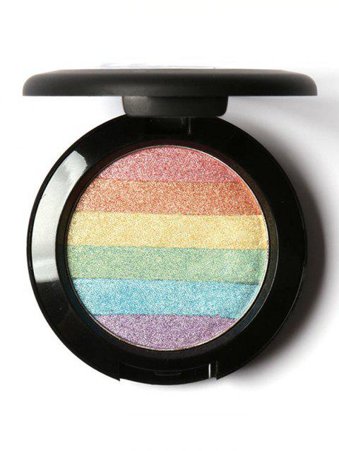 Rainbow Palette Glitter Soft Mineral Highlighting Powder - COLORFUL