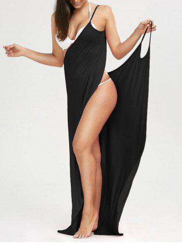4084da2fd0c72 Beach Maxi Wrap Slip Dress