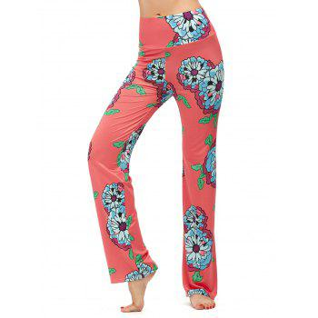 High Waisted Floral Boho Pants