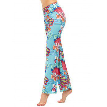 High Waist Casual Boho Pants - LIGHT BLUE XL