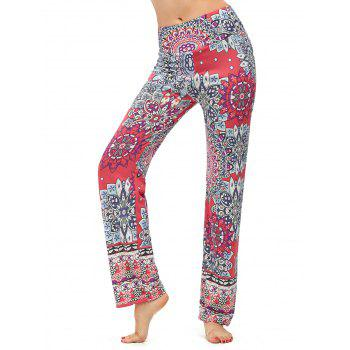 High Waisted Print Boho Pants