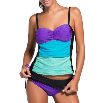 Scrunch Side Underwire Push Up Tankini Swimsuit Set