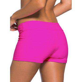 Mid-Waist Slimming Boyleg Shorts - ROSE MADDER S