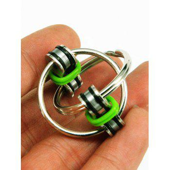 Stress Relief Toy Key Ring Fidget Spinner - GREEN