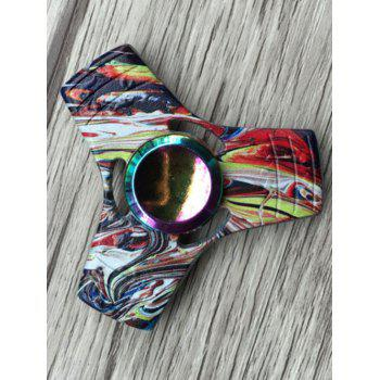Colorful Triangle Stress Relief Toy Fidget Spinner - Noir