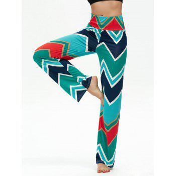 High Waisted Chevron Print Boho Pants