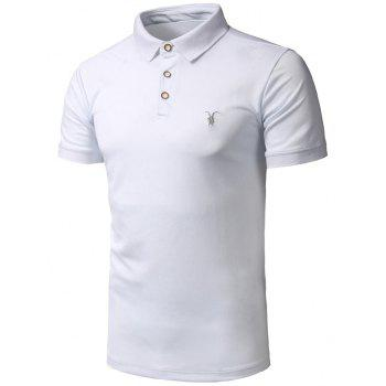 Half Button Embroidery Logo Polo Shirt