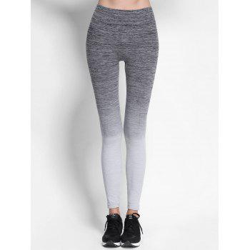 High Waist Ombre Skinny Leggings