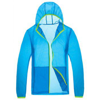 Sun Protective Hooded Zip Up Lightweight Jacket