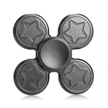 Metal Hand Fidget Spinner with Star Print