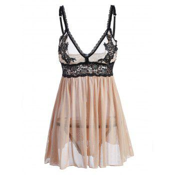 Lace Panel Cami Intimate Babydoll