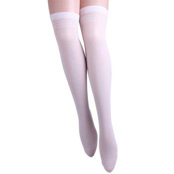 Striped Brim Skinny Stockings