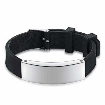 Silicone Wristband Stainless Steel Bracelet