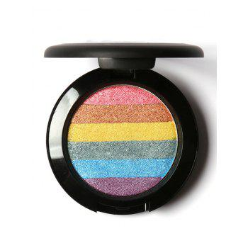 Soft Mineral Shimmer Rainbow Palette Highlighter Powder