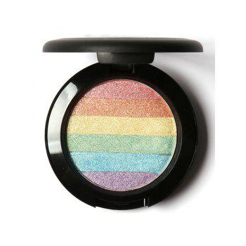 Rainbow Palette Shimmer Soft Mineral Highlighting Powder