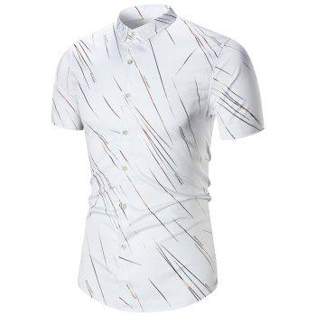 Short Sleeve Meteor Rain Printed Shirt