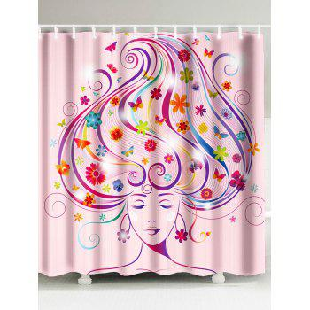 Magical Women Print Waterproof Fabric Bath Curtain