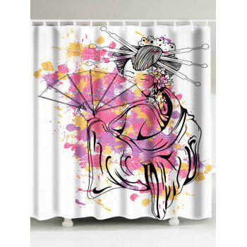 Classical Women Oil Painting Waterproof Shower Curtain