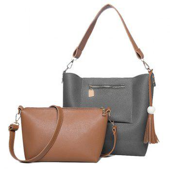 Crossbody Bag and Wood Ball Tassel Shoulder Bag
