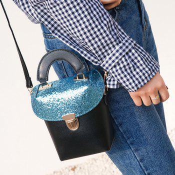 Push Lock Sequin Insert Crossbody Bag