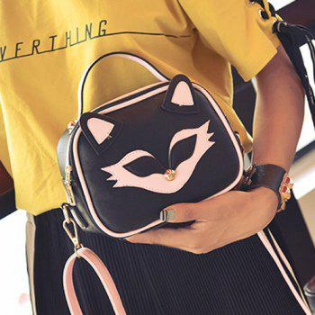 Cat Pattern Color Block Crossbody Bag