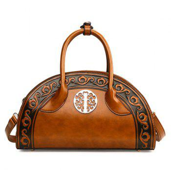Semi Circular Shaped Embossed Handbag
