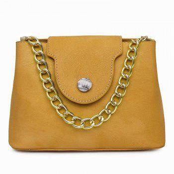 Chain Faux Leather Handbag