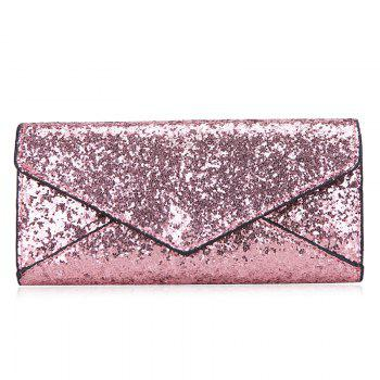 2 Pieces Sequined Envelope Wallet
