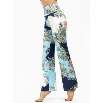 High Waisted Ethnic Print Boho Pants