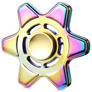 Fidget en métal coloré Finger Spinner Focus Toy - coloré 6.5*6.5CM
