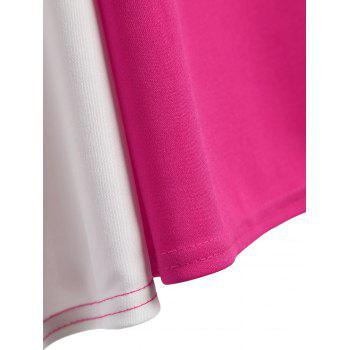 Robe sans manches Two Tone A Line - Rose Rouge XL