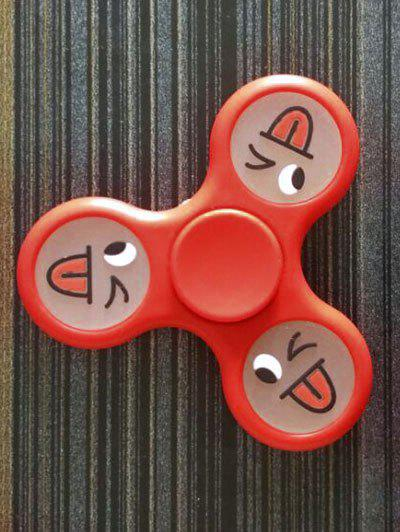 Smile Face Stree Relief Toys Triangle Fidget Spinner - Rouge Clair