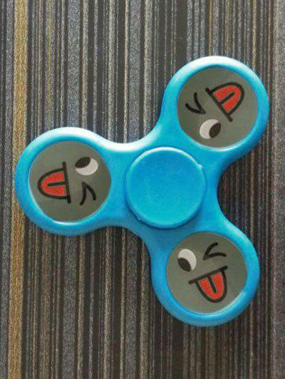 Smile Face Stree Relief Toys Triangle Fidget Spinner - Bleu