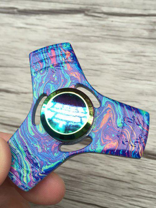 Colorful Triangle Stress Relief Toy Fidget Spinner - Bleu