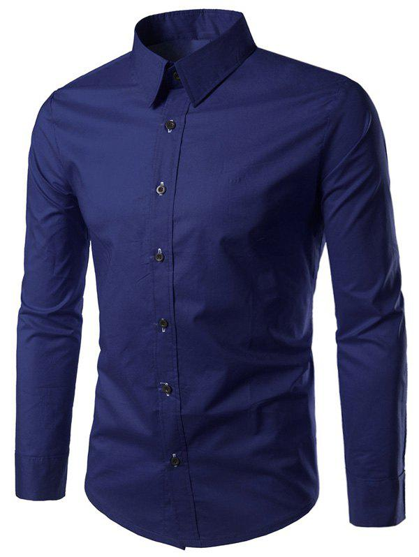 Long Sleeves Plain Formal Shirt