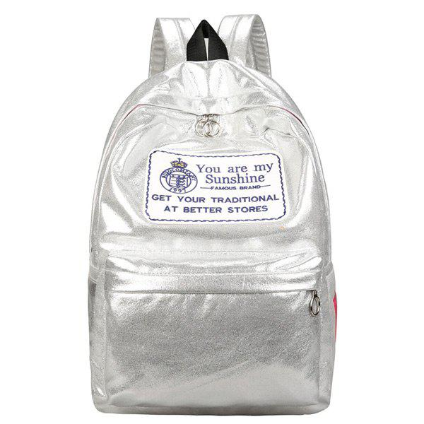 Laser Graphic Patch Backpack - SILVER