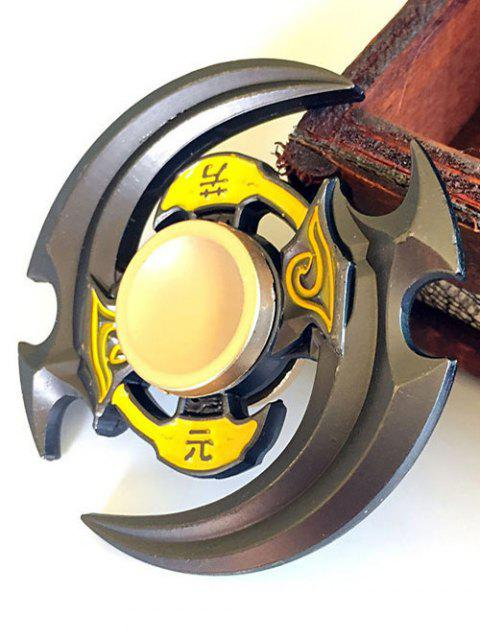 Yuan Fang Double Sickle Finger Gyro Hand Spinner - Jaune