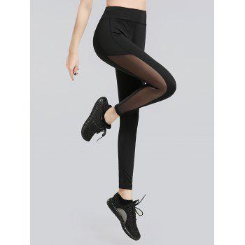 Sheer Mesh Panel Workout Leggings