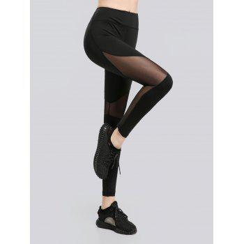 See Through Mesh Workout Leggings