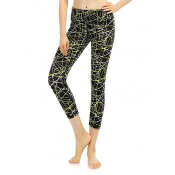 Cropped High Waist Funky Gym Leggings
