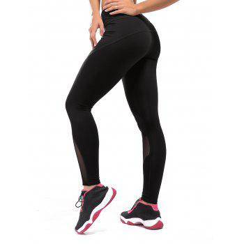 High Waist Compression Mesh Workout Leggings